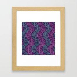 Leaf outlines Framed Art Print