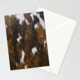 Rustic Cowhide Spots Stationery Cards