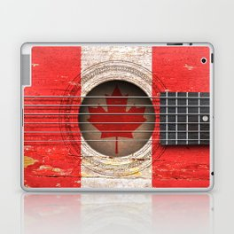 Old Vintage Acoustic Guitar with Canadian Flag Laptop & iPad Skin