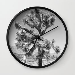 Joshua Tree Monochrome, No. 3 Wall Clock