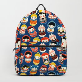 Babushka dolls vibrant pattern Backpack