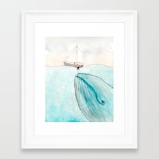 Whale watching Framed Art Print
