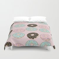 donuts Duvet Covers featuring Donuts by victoria negrin
