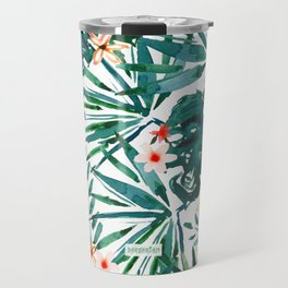 TROP DON'T STOP Tropical Palms and Monstera Travel Mug
