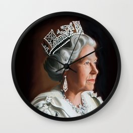 QUEEN ELIZABETH II  Wall Clock