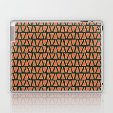 Desert Triangles - Geometric Orange and Blue Pattern Laptop & iPad Skin