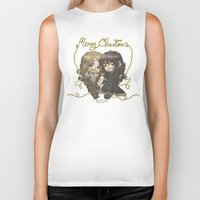 fili Biker Tanks featuring Christmas Fili and Kili by AlyTheKitten