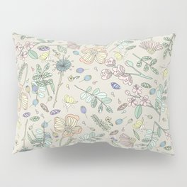 Country Flowers - Tan Pillow Sham