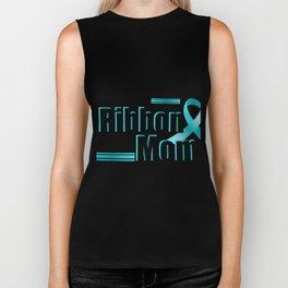 I Wear Teal For My Mom Ovarian Cancer Awareness Biker Tank