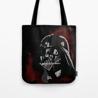 vader Tote Bags featuring VADER by Josh Ln