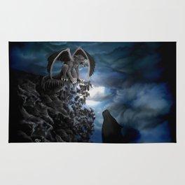 Wolfmoon , Wolf with Golem Rug