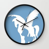 hercules Wall Clocks featuring Hercules (no title) by Citron Vert