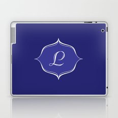 L Monogram Royal Blue Laptop & iPad Skin