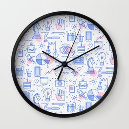 The fans pattern Wall Clock