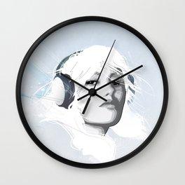 Headphone Girl v2 Wall Clock