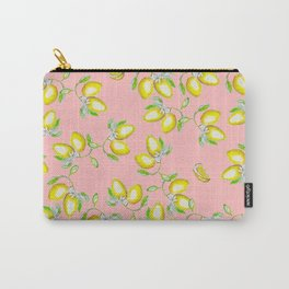 lemons light pink Carry-All Pouch