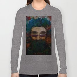 Jerry Garcia Watercolor Portrait Grateful Dead Long Sleeve T-shirt