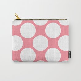 Polka Dots Pink Carry-All Pouch