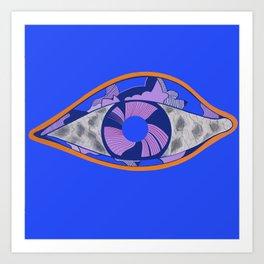 Marble eye blu Art Print