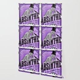 Vintage 1871 Purple Absinthe Liquor Skeleton Elixir Aperitif Cocktail Alcohol Advertisement Poster Wallpaper