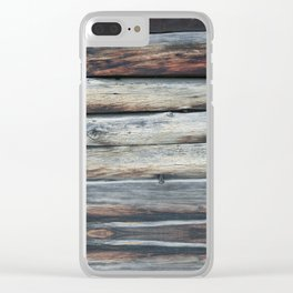 wood 2A Clear iPhone Case