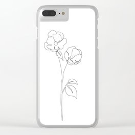 Blossom Out Clear iPhone Case