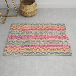 Vintage distorted stripes pattern Rug