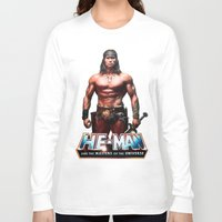 he man Long Sleeve T-shirts featuring He-Man by MartiniWithATwist