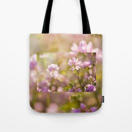 Wild pink Clover or Trifolium flowers Tote Bag