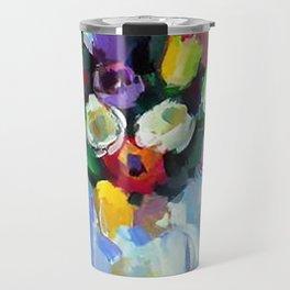 Still LIfe with Tulips Travel Mug