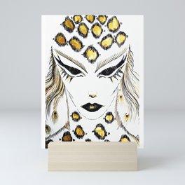 Panther girl Mini Art Print