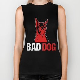 Bad Dog Puppy Animal Owners Doggie Pet Lovers Rescue Dog Puppies Gift Biker Tank