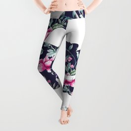 Alice floral designs - Cheshire cat entirely bonkers Leggings