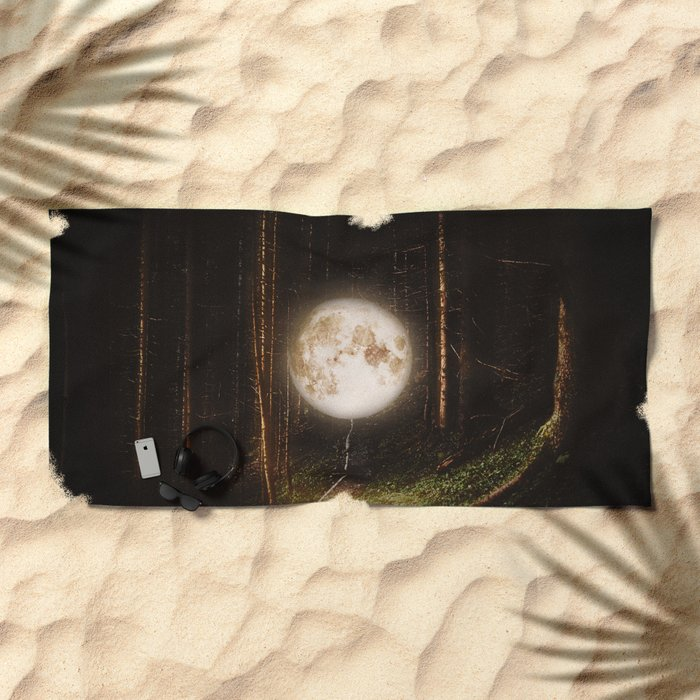 Visiting The Forest Beach Towel