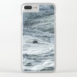 Staying Afloat in a World of Turmoil Clear iPhone Case
