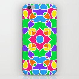 Rainbow Mosaic Symmetrical Swirls Kaleidoscope 2 iPhone Skin