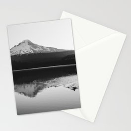 Wild Mountain Sunrise - Black and White Nature Photography Stationery Cards