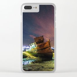 Shipwrecked on the California Coast Clear iPhone Case