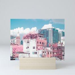 Pink and Blue Seoul Mini Art Print
