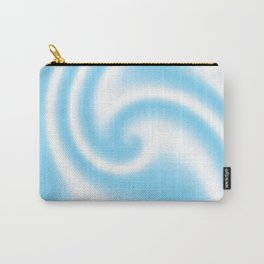 Blue Raspberry Ribbon Candy Fractal Carry-All Pouch