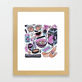MATERIAL WORLD Framed Art Print