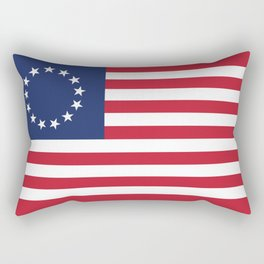Betsy Ross flag - Authentic color and scale Rectangular Pillow