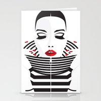 striped Stationery Cards featuring striped by Yordanka Poleganova