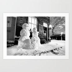 We dress up like snowmen Art Print