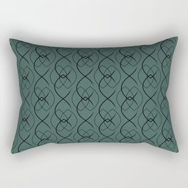 Blue Forest Wall with Navy Ovals Rectangular Pillow