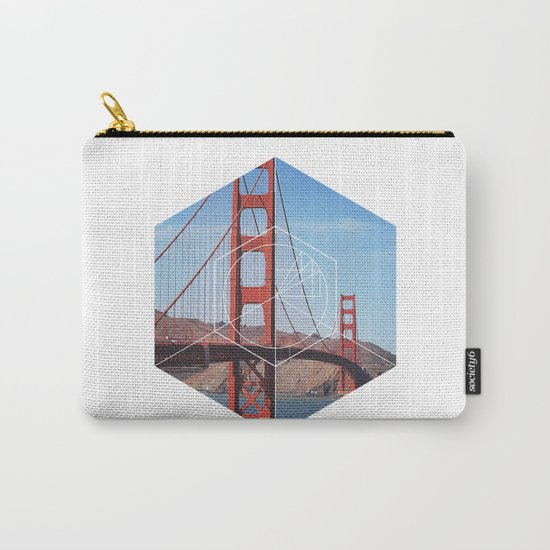 Golden Gate Bridge - Geometric Photography Carry-All Pouch