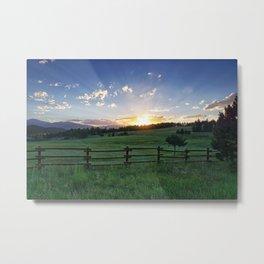 Foothills Sunset Metal Print