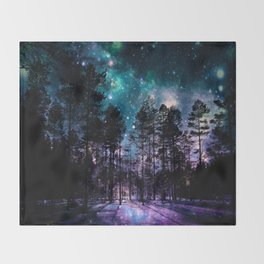 One Magical Night... teal & purple Throw Blanket