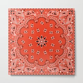 red bandana Metal Print