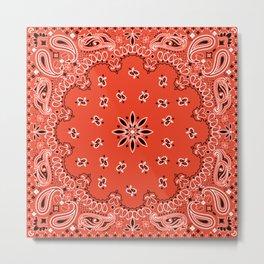 red bandana Metal Print